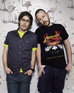 Felix Buxton, left, and Simon Ratcliff of Basement Jaxx will perform at the Triangle benefit gig