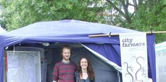 Helen Steer and Pete Boyce, from City Farmers at Lambeth Country Show