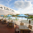 TROPICAL: Watch the Lido slowly fill with water, while breakfasting on the cafe's terrace