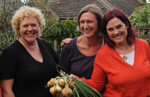 GOING GREEN: Founders (from left) Maria, Jean, Therese