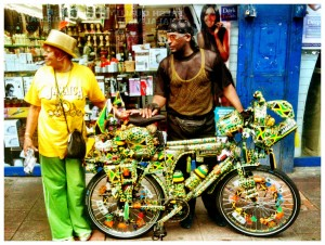 And finally this pic of perhaps Brixton's biggest Jamaica fan at the Splash was taken by Llana Taub