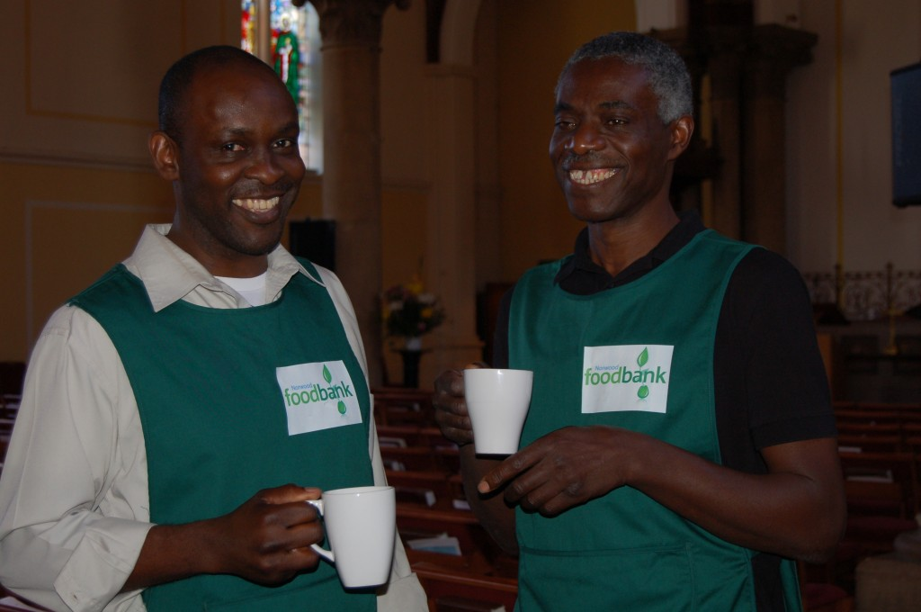 Volunteers at the Brixton Foodbank