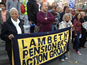Lambeth Pensioners Action Group at an earlier meeting