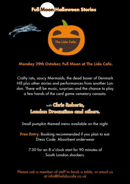 Take Two: Brixton Craft Halloween Special @ Upstairs at the Ritzy ...