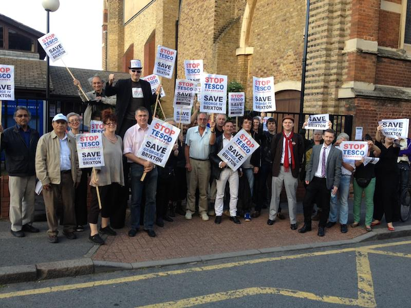 ANGRY: More than 100 residents and shopkeepers attended a meeting against the new supermarket