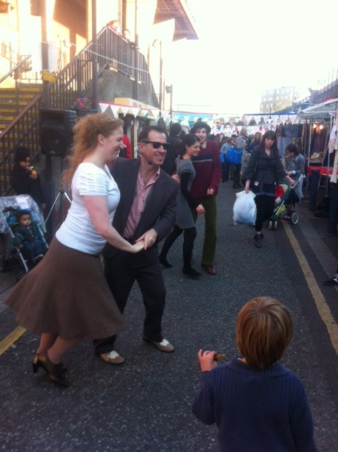 Swing dancing at a previous Retro Market