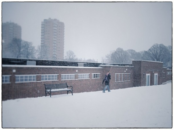 A Soviet looking Brockwell Lido. Pic by Kate Monro, Kate in Brixton on Flickr.