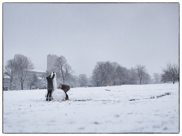 It's become a snowy tradition to build a rude sculpture in Brockwell Park. Pic by Kate Monro, Kate in Brixton on Flickr.