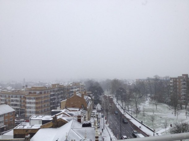 Picture by Claire McLoughlin from the top of Brixton Hill