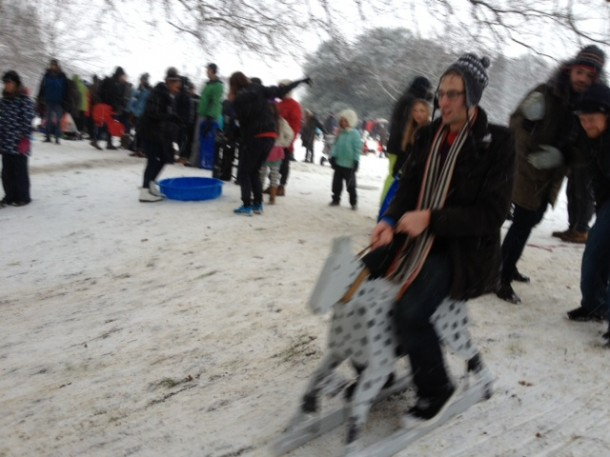 Horsing around in Brockwell park. Pic by Tim Dickens