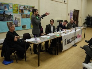 Residents question candidates at the Brixton Blog hustings