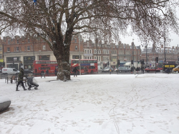 Windrush Square at midday - pic by Brixton Blog