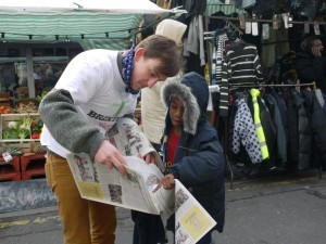 brixton bugle handing out tim dickens station road