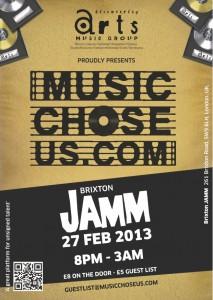 Music Chose Us @ Brixton Jamm