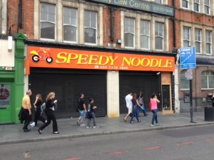 Speedy Noodle, in Brixton Road, when it closed last summer