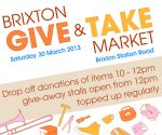 Brixton Station Road market give and take ad