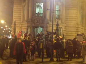 Protesters outside Lambeth Town Hall