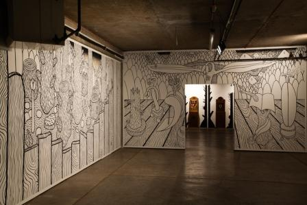 Wall Drawings by Robin Mason. Photograph by XX