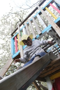 Triangle playground slide