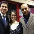 Ed Miliband MP, Saja Shaheen (Nour Cash & Carry) and Chuka Umunna MP in Brixton Market