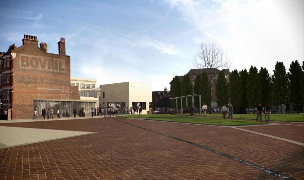 BCA in day light. Architect's render courtesy of Architects Pringle Richards Sharratt