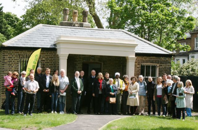 Representatives from; Heritage Lottery Fund,  Lambeth Councillors and Officers, Community Partners, Consultants and Contractor in Brockwell Park.