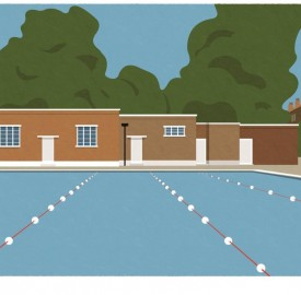 Brockwell Lido by South London Prints www.southlondonprints