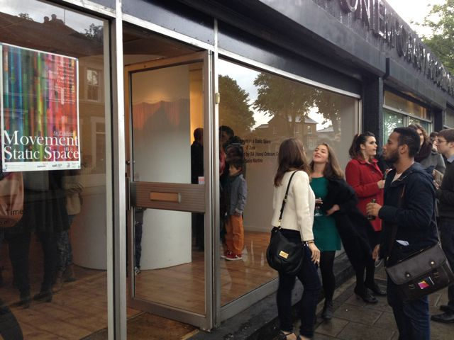 The opening night of the exhibition at 198. Photo by Lizzie Kaye.