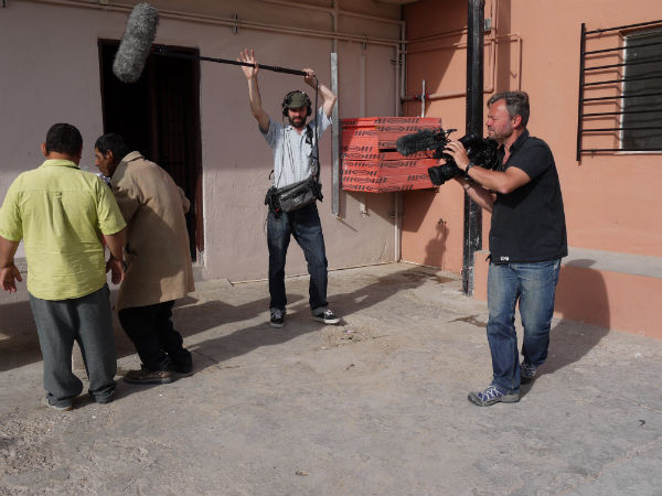 Mark Aitken & crew filming in Juárez