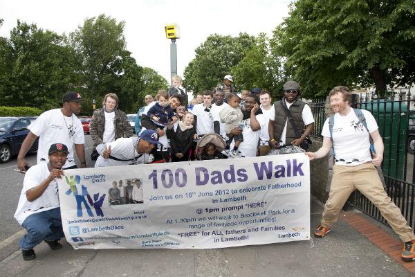 Lambeth dads on last year's 100 Dads Walk