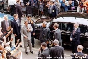 Mandela and Prince Charles on Brixton Station Road