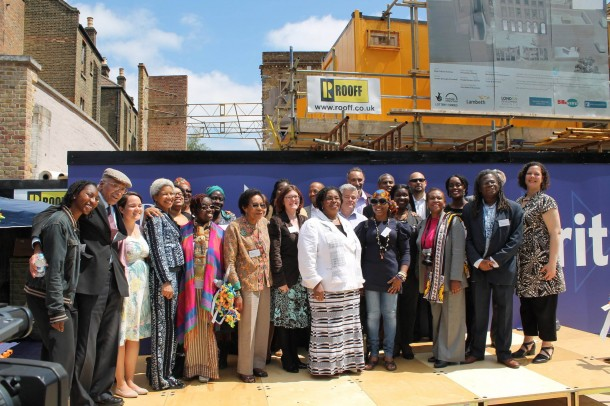 BCA staff and directors at its dedication ceremony in 2013
