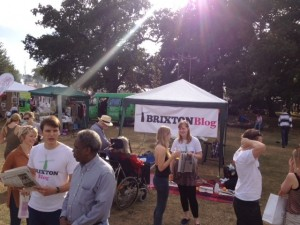 Brixton Blog's marquee at last year's Lambeth Country Show