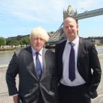 Tim Briggs with Boris Johnson