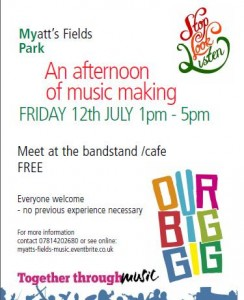 Our Big Gig Myatts Fields poster