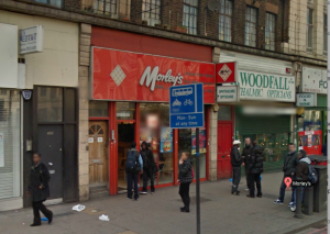 INCIDENT: Two men were injured during the fight at Morley's chicken shop, Brixton Road. Pic from Google Streetview