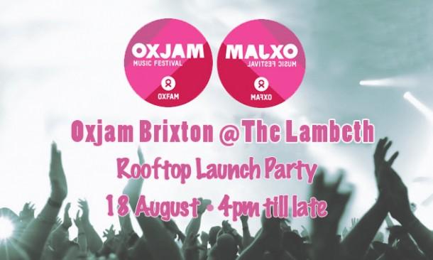 Oxjam Brixton Summer launch party - 18 August 2013