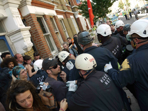 EVICTION BRIXTON: Evictions in Rushcroft Road last summer turned violent.