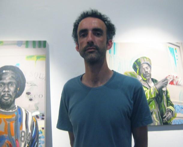 Gerard Hanson, artist.  Photograph by Sophie Gainsley