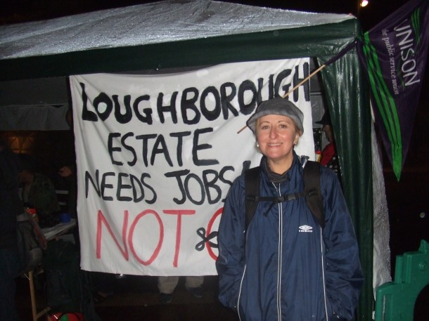 Prilly Lewis, one of the protestors sleeping out in Windrush Square