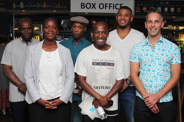 Director Stuart Everitt with the team from Afewee at the film's debut at the Ritzy Cinema, Brixton
