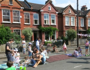 Kids at play in Hexham Road