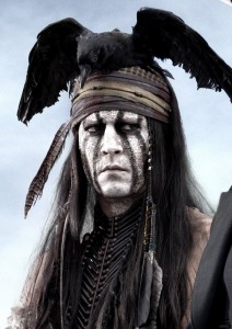 The Lone Ranger: Johnny Depp spots a group of critics in the distance.