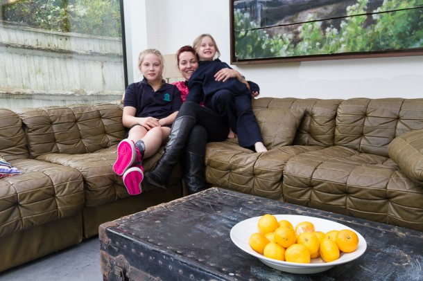 FAMILY: Rachel Hammond with daughters x and x in their new Brockwell Park home. Picture by Tom James