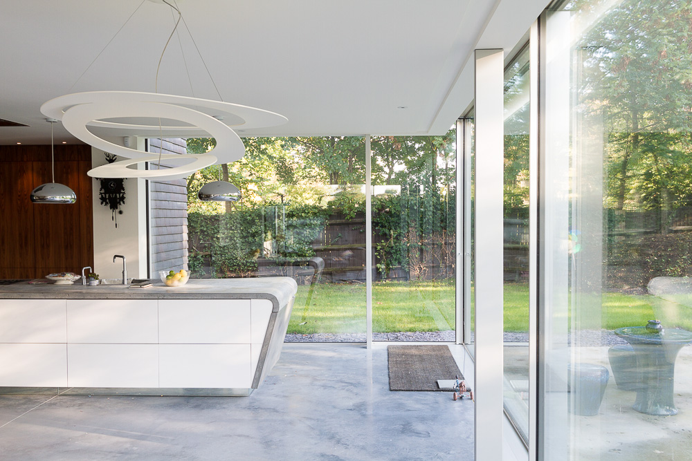 MODERNIST: The house succeeds in bringing the outside in. Pic by Tom James
