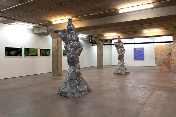 Installation shot 1.  Left to right: Nathaniel Stern, Daniel Silver, Mark Jackson, Gabriel Hartley