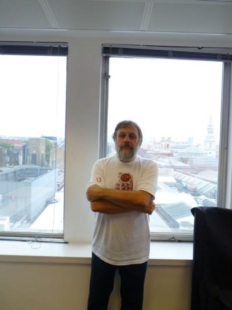 Slavoj Žižek meets Luke Massey at Picturehouse HQ in Piccadilly