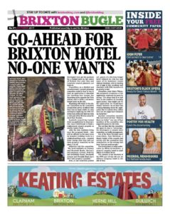 Front page of Brixton Bugle October 2017