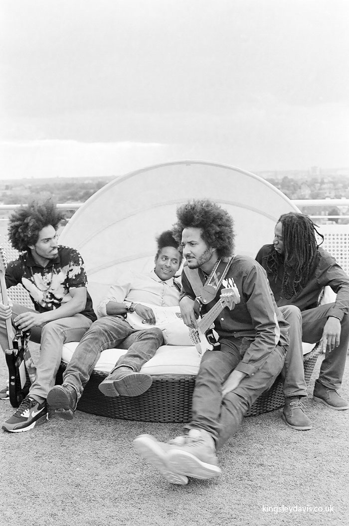 The band, R-L: Mark, Kwame, Mensah, Marcus