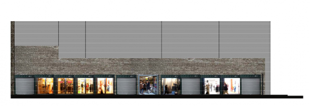 Artist's impression of what the containers at Brixton yard might look like